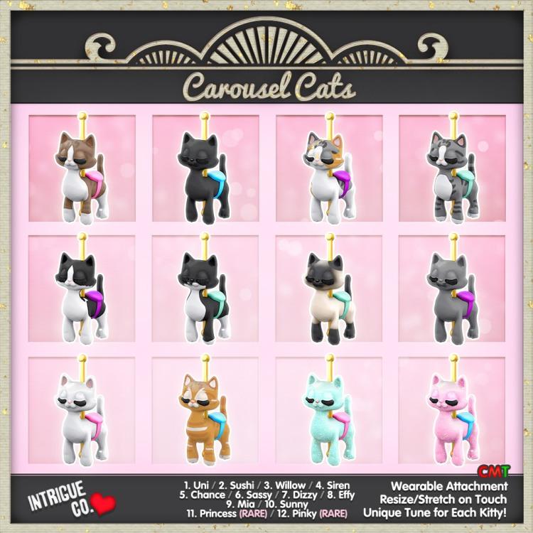 Carousel Cats Gacha Sheet