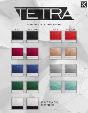 Sporty Lingerie Color Options